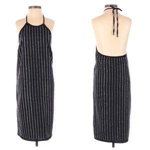 Susana Monaco Rhinestone Halter Dress